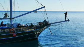 Sailboat. Red Sea, Egypt stock video footage