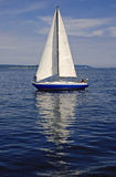 Sailboat Reflection Stock Photography