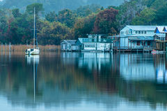 Sailboat Reflections Stock Image