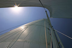 Sailboat Rig from Below Royalty Free Stock Photos