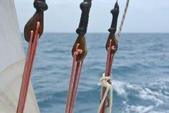 Sailboat rigging Royalty Free Stock Photos