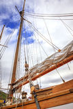 Sailboat rigging Stock Photos