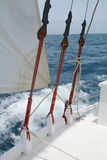Sailboat rigging Stock Photo