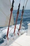 Sailboat rigging Stock Image