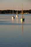 Sailboat on a River. Sailboats on the Chester River Stock Photos