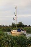 Sailboat at river frome, wareham Royalty Free Stock Photos
