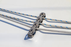 Sailboat rope detail Royalty Free Stock Images