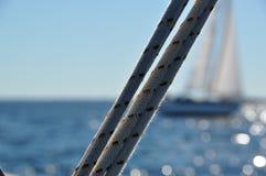 Sailboat ropes Royalty Free Stock Images