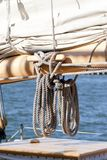 Sailboat Ropes Stock Image