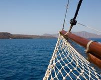 Sailboat's bow Royalty Free Stock Image