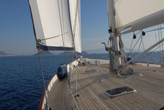 Sailboat on sail Royalty Free Stock Photos