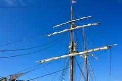 Sailboat on sail. Luxury sailboat on sail at the Mediterranean sea Royalty Free Stock Photos