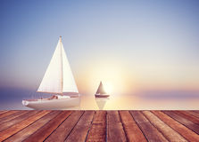 Sailboat Sail Summer Travel Freedom Leisure Vacation Concept Royalty Free Stock Image