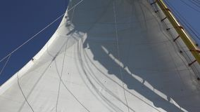 Sailboat Sail And Wind. A Sailboat Sail And Wind stock video footage