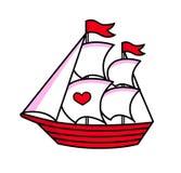 Sailboat. stock illustration