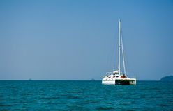 Sailboat sailing Royalty Free Stock Images