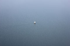 Sailboat. A sailboat or sailing boat is a boat propelled partly or entirely by sails smaller than a sailing ship. Distinctions in what constitutes a sailing boat Royalty Free Stock Photos