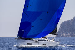 Sailboat. Sailing boat during a racing Stock Photo