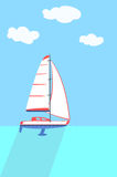 A sailboat or sailing boat. Royalty Free Stock Photo
