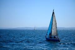 Sailboat. Sailing on the Costa Brava, Catalonia Royalty Free Stock Images