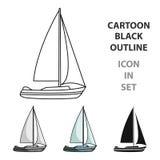Sailboat for sailing. Stock Photos