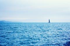 Sailboat sailing in sea Royalty Free Stock Photos