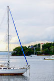 Sailboat without sails Royalty Free Stock Image