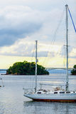 Sailboat without sails Royalty Free Stock Photo
