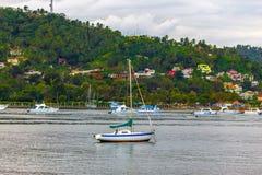 Sailboat without sails Stock Photos