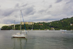 Sailboat without sails Stock Photography