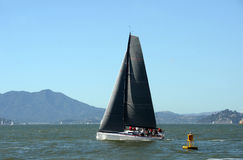 Sailboat in the San Francisco Bay Stock Images