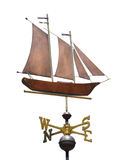Sailboat (Schooner) Weather Vane Royalty Free Stock Images