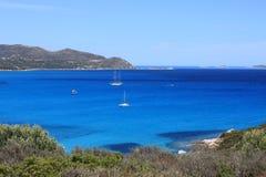 Sailboat in the sea of Sardinia Stock Photos
