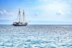 Sailboat at sea stock photography