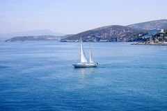 Sailboat in the Sea Royalty Free Stock Image