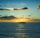 Sailboat and The Sea Royalty Free Stock Photography
