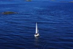 Sailboat on the sea Stock Photography