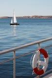 A sailboat at sea Royalty Free Stock Photo