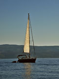 Sailboat at sea Stock Photography
