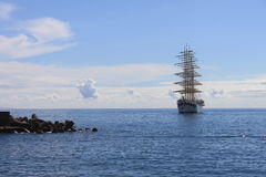 Sailboat in the Sea Stock Photo