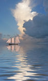 Sailboat on sea Stock Photo