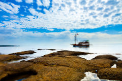 Sailboat in the sea Stock Image