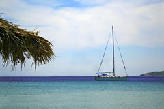 Sailboat on the sea Royalty Free Stock Images