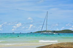 Sailboat on the sea Royalty Free Stock Image