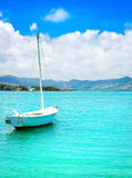Sailboat in a sea Royalty Free Stock Photography