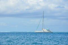 Sailboat at sea stock images