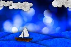 Sailboat, sea illustration Stock Image