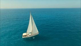 Sailboat. In the sea made withe phantom 3 advanced