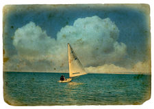 Sailboat at sea. Royalty Free Stock Image