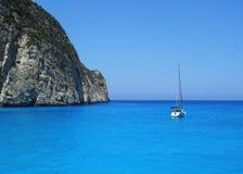 Sailboat on the sea Royalty Free Stock Photo